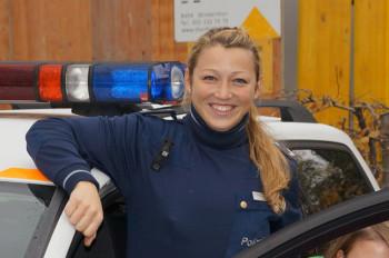Caroline Häcki bei der Arbeit.