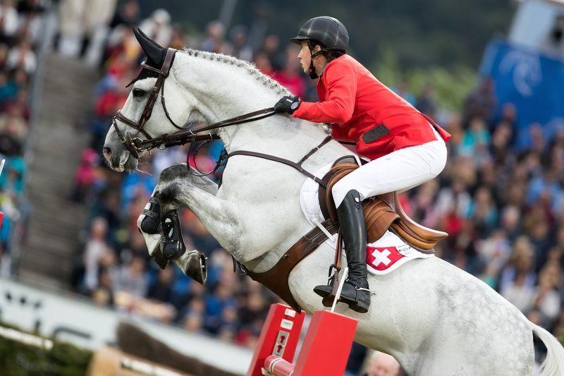 Aachen, 14.7.2016, Pferdesport - Weltfest des Pferdesports CHIO Aachen 2016, Martin FUCHS (SUI) mit Clooney 51.
