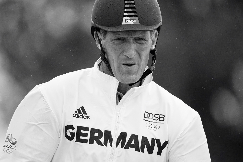 JUMPING.Training session  Ludger Beerbaum GER Photo Richard Juilliart